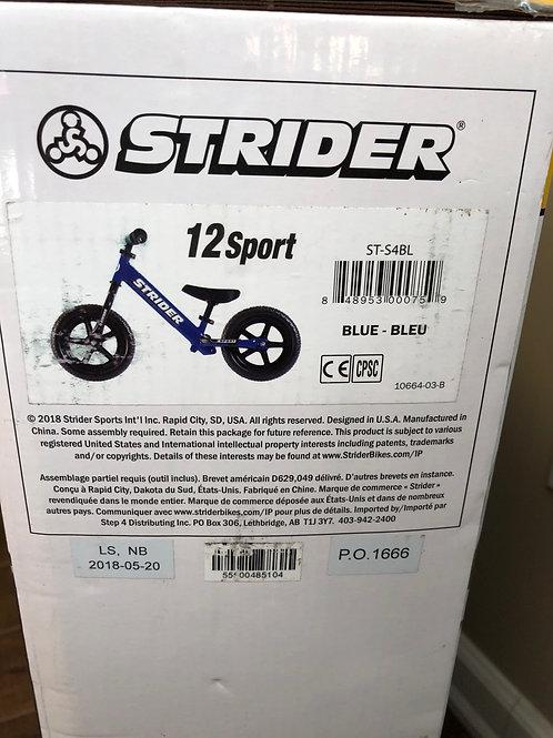 Blue Sport Strider Bike