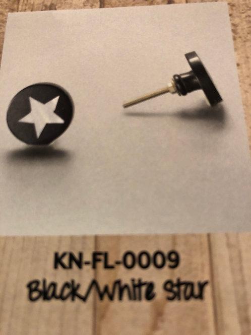 Black/White Star Knob KN-FL-0009