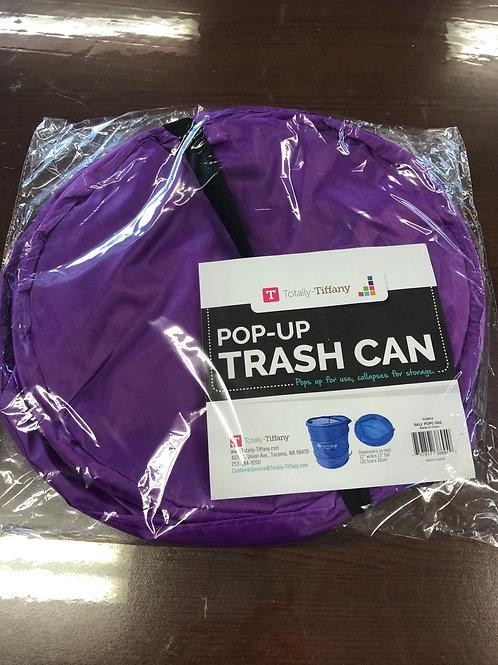 "12"" Pop Up Trash Can Purple"