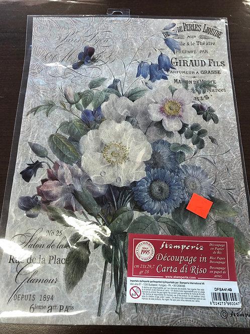 "8.25"" x 11.5"" Flower Rice Paper DFSA4149"