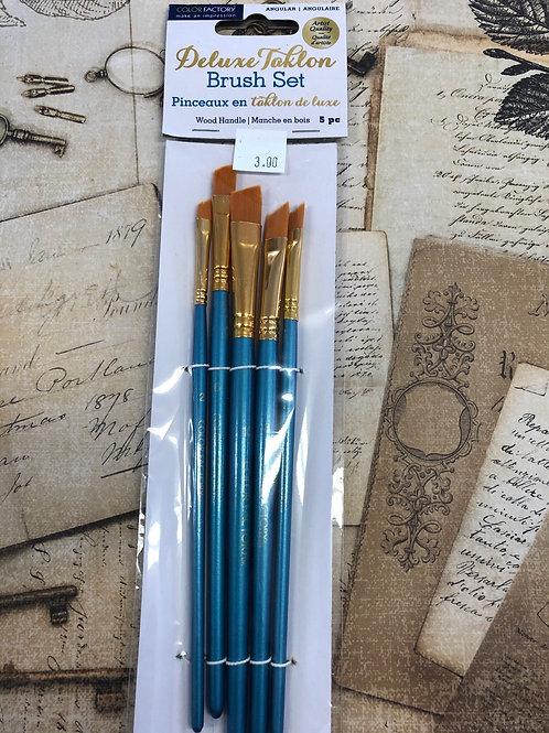 Deluxe Taklon Brush Set Angular