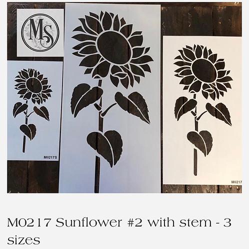 "M0217 Medium Sunflower 7.3""x15.75"""