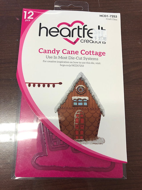 Candy Cane Cottage Die