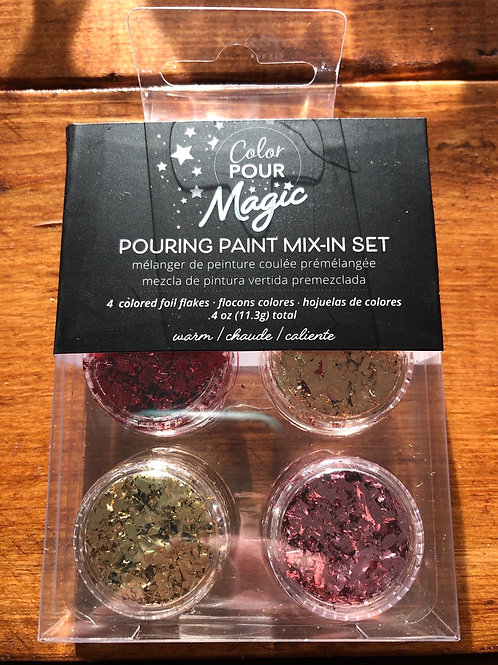 Pouring Paint Mix-in Set Warm 359813