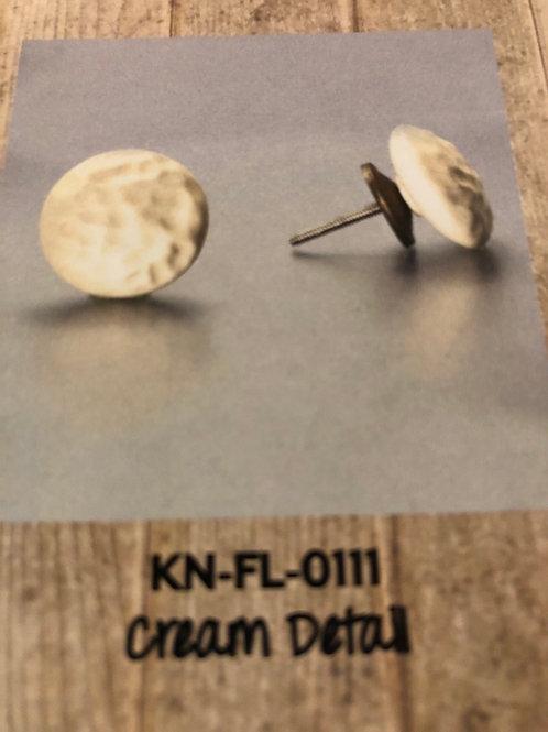 Cream Detail Knob KN-FL-0111