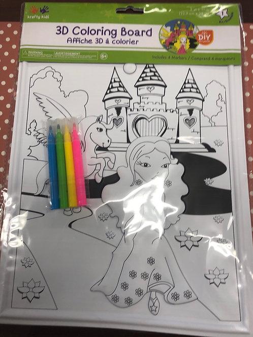 CK182D Enchanted 3D Coloring Board