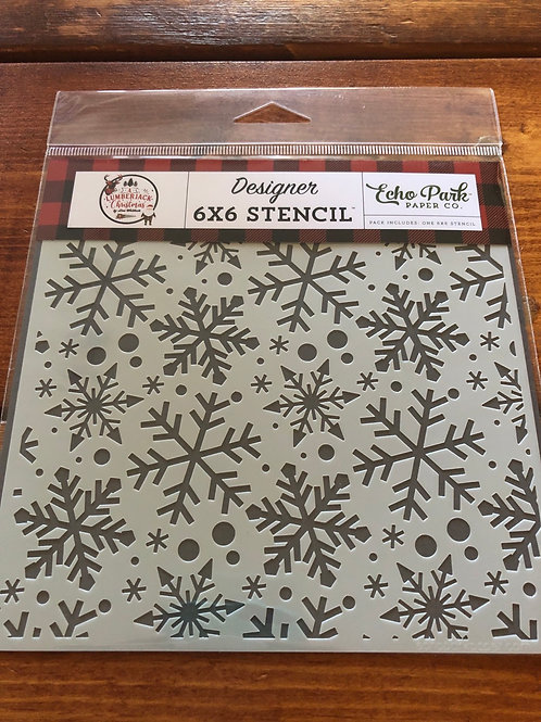 ALC220033 Jungle Bell Snowflakes Stencil