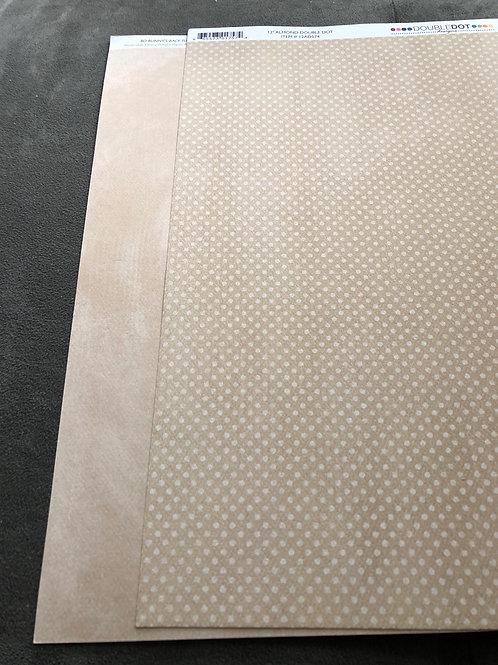 "12"" Almond Double Dot BoBunny Paper"
