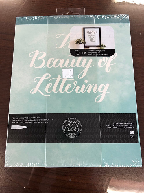 Beauty of Lettering Book