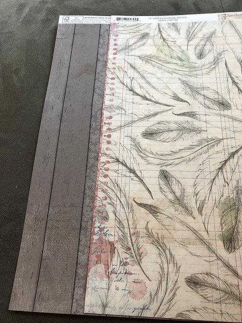 """12"""" Sketch BoBunny Garden Journal Collection"""