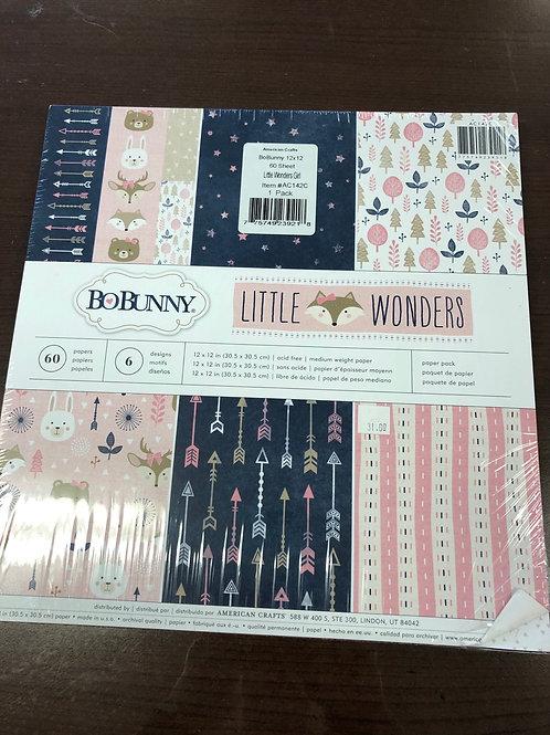 BoBunny Little Wonders Girl Paper Pack