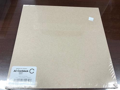 AC Cardstock Smooth Kraft 71464 Pack 25