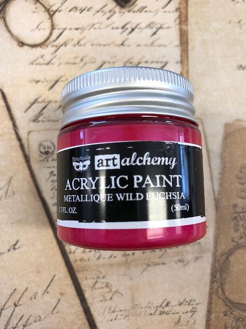 Acrylic Paint Wild Fuchsia