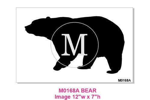 M0168A Bear Stencil