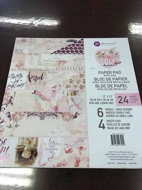 Love Story Paper Pad