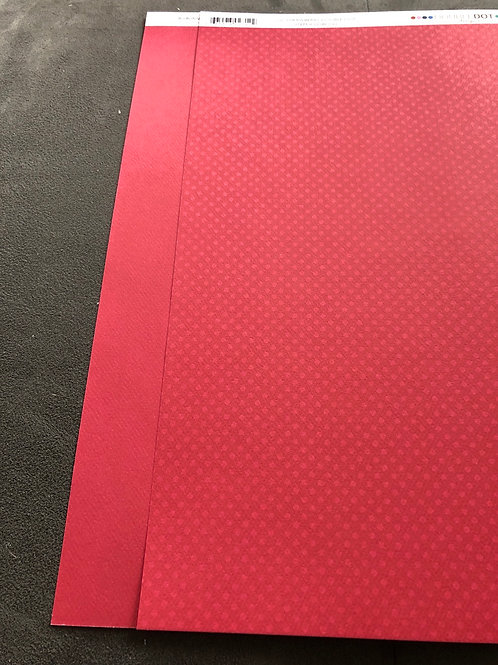 "12"" Strawberry Double Dot BoBunny Paper"