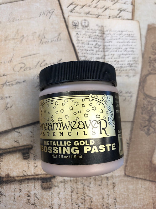 Metallic Gold Embossing Paste