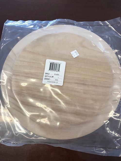 "12"" Wood Plate"