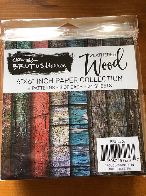 BRU2767 Weathered Wood 6x6 Paper Pad