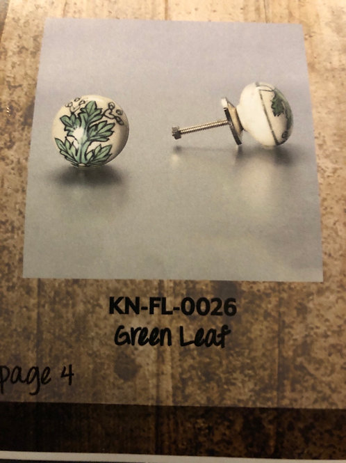 Green Leaf Knob KN-FL-0026