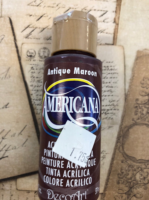 Acrylic Paint Antique Maroon