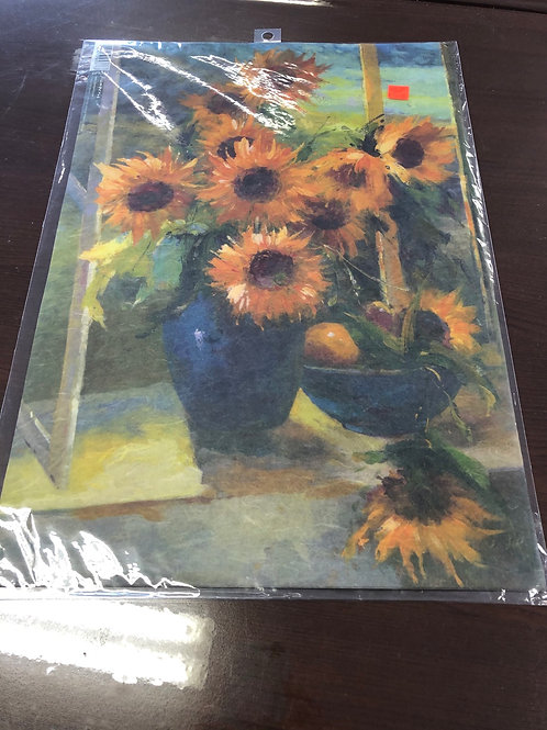"1 Sheet Sunflower Rice Paper 19"" x 13"" DFS331"