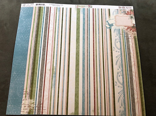 "12"" Stripe BoBunny Garden Journal Collection"