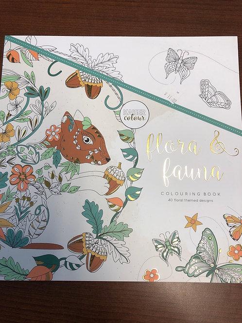 Flora & Fauna Colouring Book