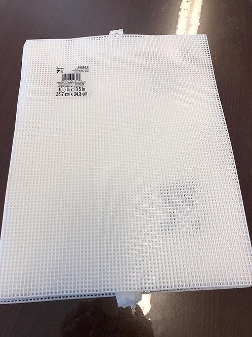 10.5 x 13.5 White Plastic Canvas