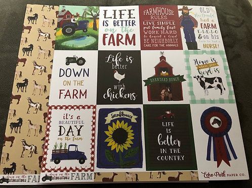 3x4 Journaling Cards Down On The Farm Collection