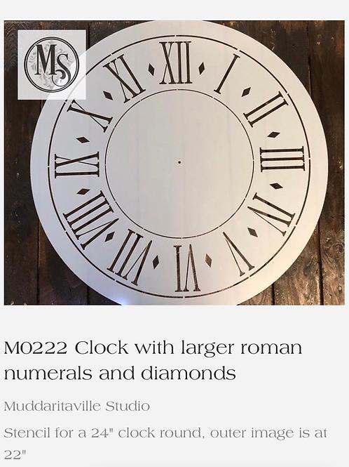 """M0222 24"""" Clock"""
