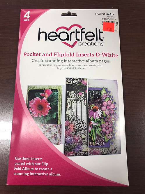 Heartfelt Pocket and Flipfold D White