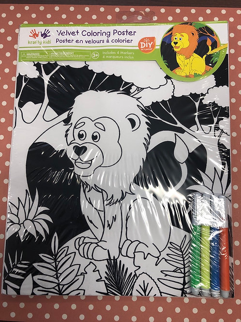 CK140O Lion Velvet Coloring Poster