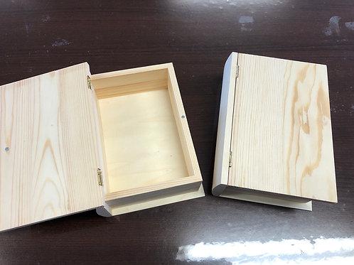 12cm x 18cm Wood Book Box WS946