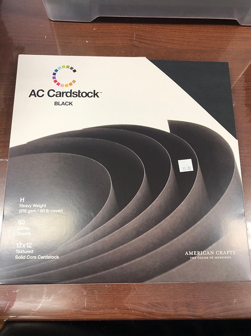 AC Cardstock 60 Pack Textured Black
