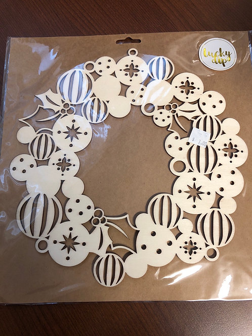 "9"" wooden embellishment"