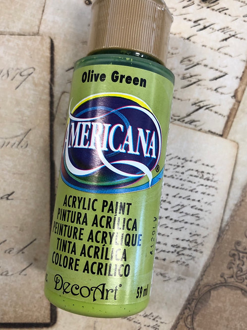 Acrylic Paint Olive Green