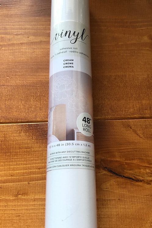 "12""x48"" Cream Vinyl Adhesive Roll 349920"