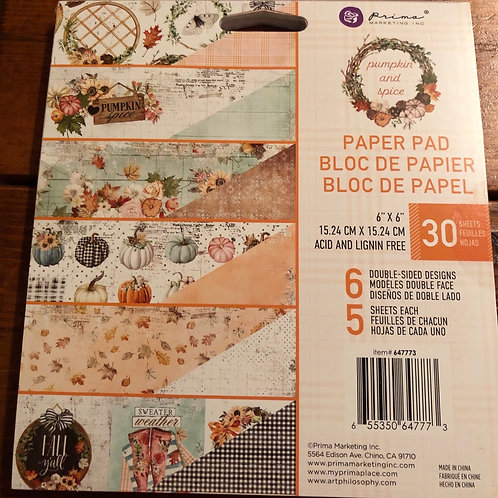 647773 Pumpkin And Spice Paper Pad