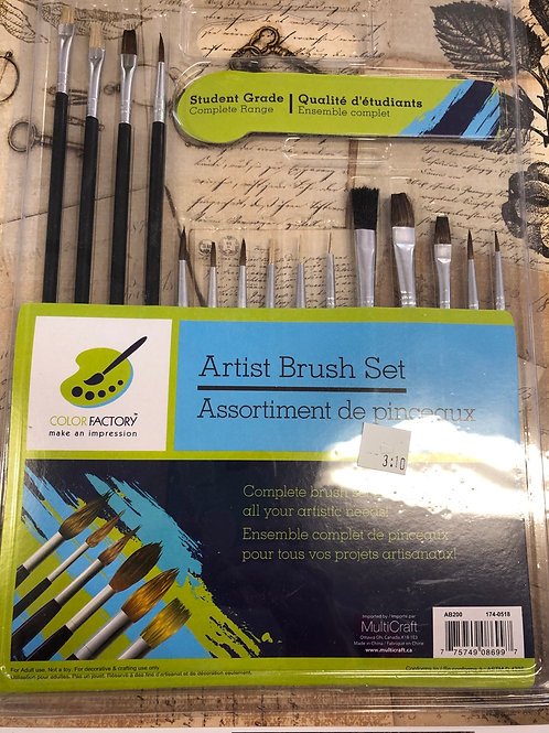 Student Grade Artist Brush Set