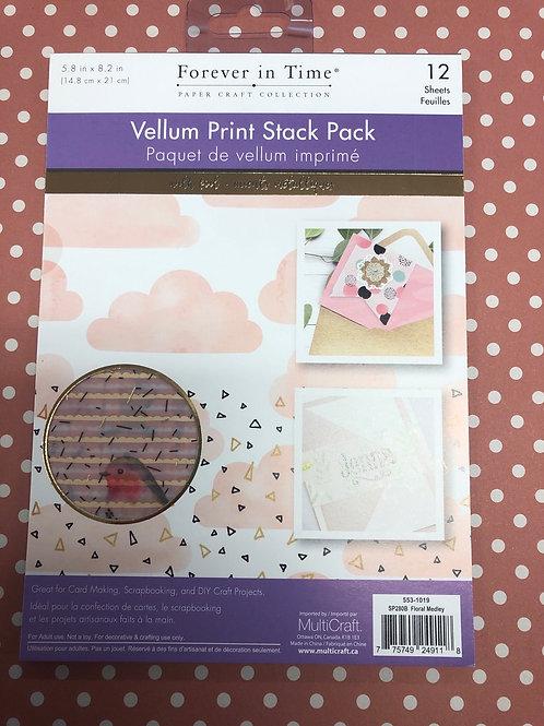 SP280B Floral Medley Vellum Pack