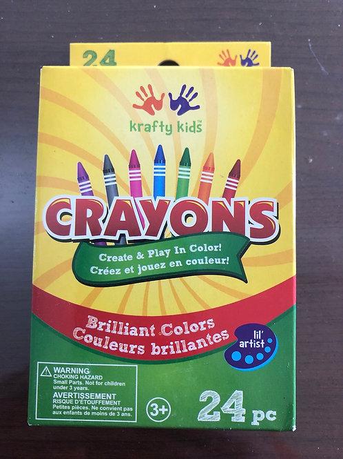 Kraft Kids Crayons 24pc KC420