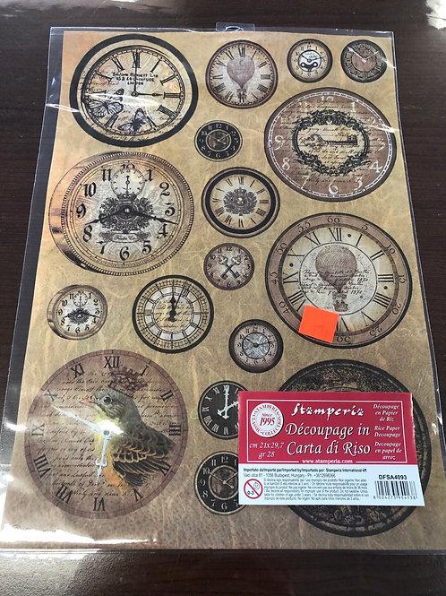 "8.25"" x 11.5"" Clock Rice Paper"