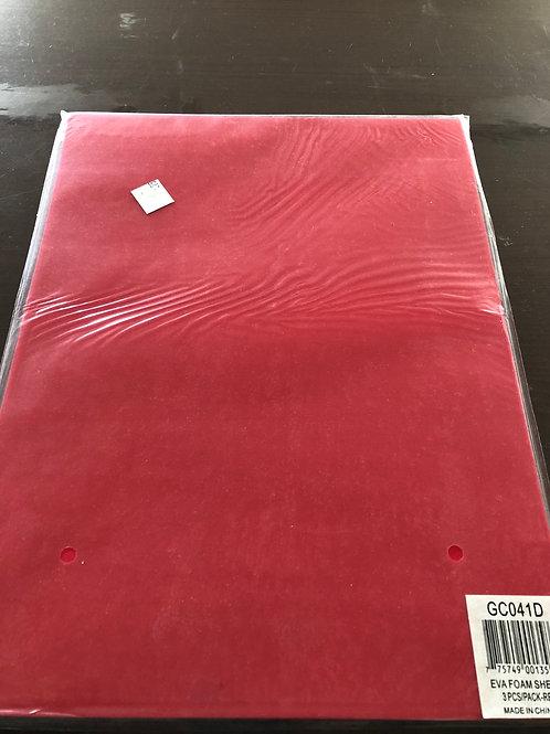 Fun Foam Pack 3 Red