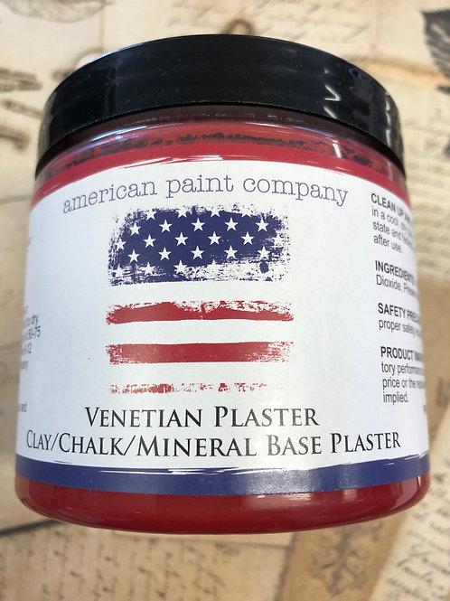 Fireworks Red Venetian Plaster