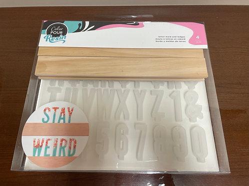 34005744 Color Pour Resin Mold Letter Ledge