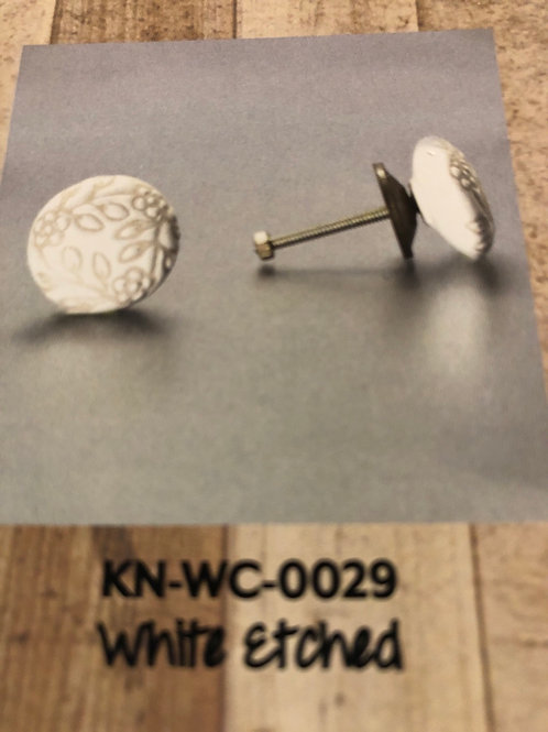 White Etched Knob KN-WC-0029