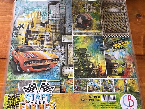 Start Your Engines Paper Pad CBPM031