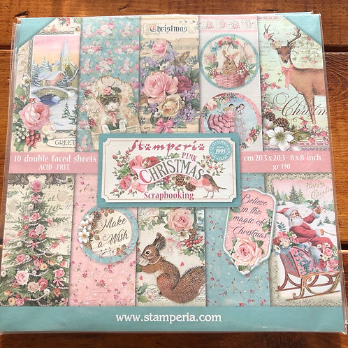 Pink Christmas Paper Pad SBBS16