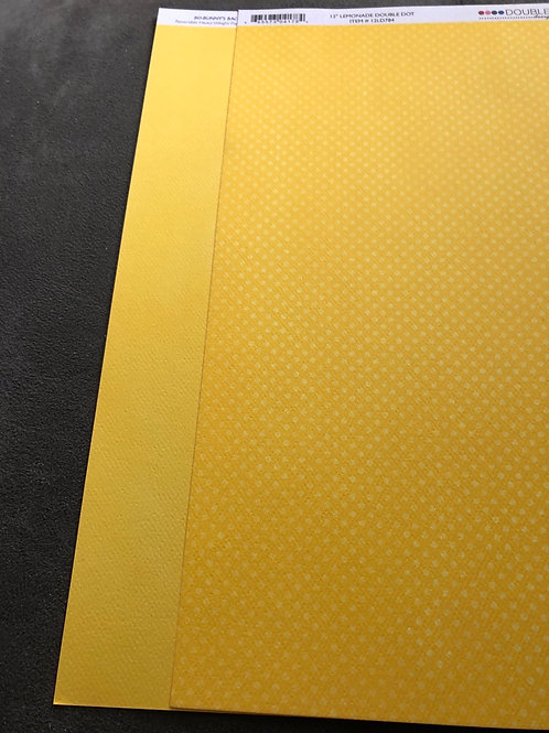 "12""Lemonade Double Dot BoBunny Paper"